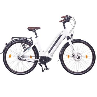 "Bicicleta eléctrica Unisex de Trekking NCM Milano MAX 28"" 250W Blanco"