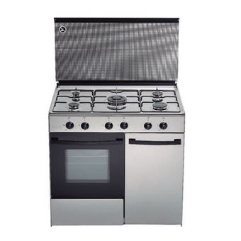 Cocina de gas butano/natural HVG CGI, 5 quemadores, Horno gas, acabado Inox