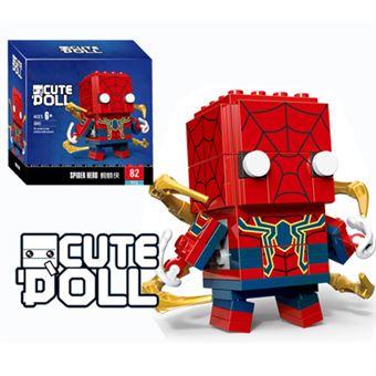 Figura Decool CuteDool Mini 9cm Puzzle Mega Bloks Marvel, Spider Iron Man