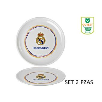 Gr/ set 2 Platos Plastico Real Madrid