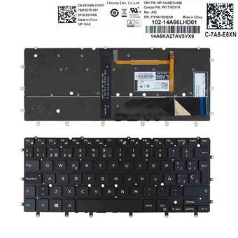 Teclado Retroiluminado para Portátil DELL XPS 13 9343 9350 7347 7348 NEGRO