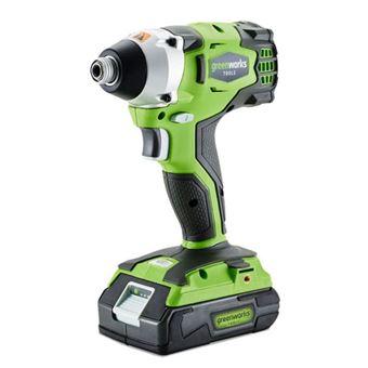 Llave impacto Greenworks, sin escobillas batería no inc. GD24IW 3801507