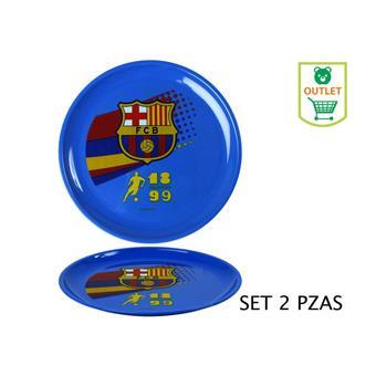 Gr/ set dos Platos Fcbarcelona en Plastico