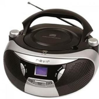 Nevir NVR-475U - Radio CD con MP3, portátil, color plata