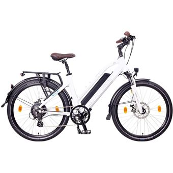 "Bicicleta eléctrica de trekking NCM Milano Plus 28"" Blanco"