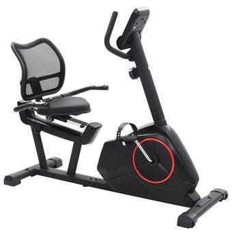 Bicicleta estática vidaXL, reclinable masa rotatoria 10 kg
