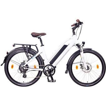 "Bicicleta eléctrica de trekking NCM Milano Plus 26"" Blanco"