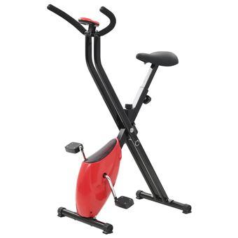 Bicicleta estática vidaXL, X-Bike resistencia de cinta roja