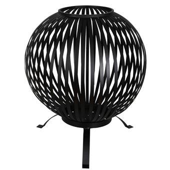 Brasero Esschert Design, esfera enrejada Acero al carbono Negro FF400