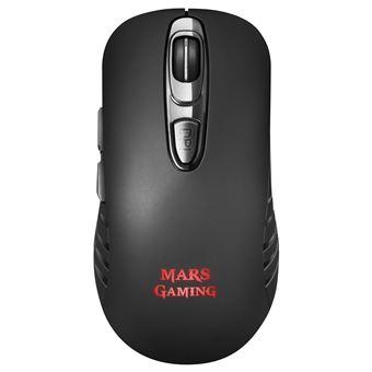 Ratón Gaming Inalámbrico Mars Gaming MMW2 RGBFlow, 3200DPI, Soft-Touch Negro