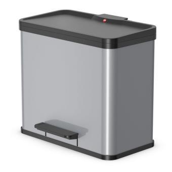 Cubo con pedal Oko T Plus tamaño L 3x9 plateado 0633-220