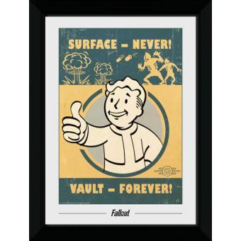 Fotografia enmarcada Fallout Vault Forever (30mm Negro)