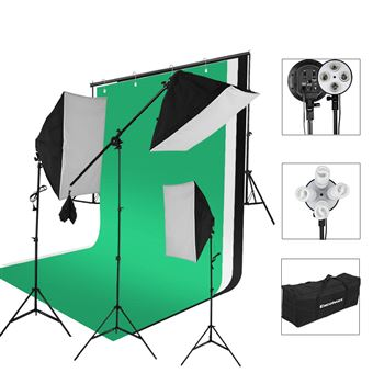 Kit de Iluminación para Estudio Fotográfico Excelvan SHLP-045 2000W Lighting Kit