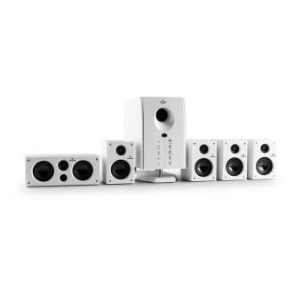 Auna Areal 525 WH Sistema surround home cinema 5.1 (altavoces satelites activo 95W, subwoofer bassreflex, AUX)