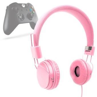 Auriculares Estéreo Para XBOX ONE - En Rosa Con Micrófono  / Con Cable De 2 m Por DURAGADGET