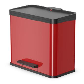 Cubo con pedal Oko Duo Plus tamaño L 17+9 Rojo 0630-240