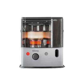 Estufa portátil de parafina de 2700 W y 99,99% de eficiencia energética. Con sensor de temperatura y acabado en acero inoxidable negro