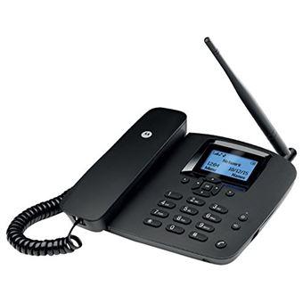 Telefono Fijo Inalambrico Motorola Fw200l Negro sim 2g gsm con Bateria Auxiliar