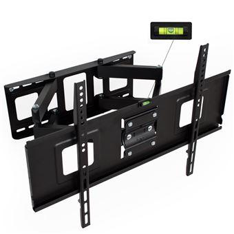 Soporte de pared para pantallas de 32-65? 81-165cm inclinable y orientable nivel de aire, Negro