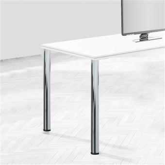 Emuca Patas para mesa, D. 60 mm, regulable 830 - 850 mm, Acero, Gris metalizado, 4 ud.