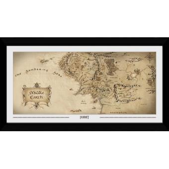 Fotografia enmarcada The Hobbit Mapa (30mm Negro)