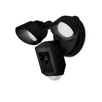 Cámara Wifi Ring con Luces LED Incorporadas Floodlight negra