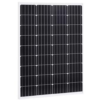 Panel solar de aluminio y vidrio de seguridad vidaXL