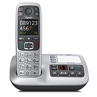 Gigaset E560a Dect Identificador de Llamadas Negro, Plata Teléfono