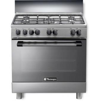 Cocina De Butano Con Horno | Cocina Rommer P 855 Gx Butano Gris Horno Electrico Cocina Los