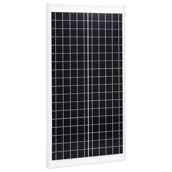 Panel solar policristalino aluminio y vidrio de seguridad vidaXL