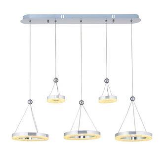 Lámpara de Suspensión Homemania Galya Cromo, 81x81x90 cm