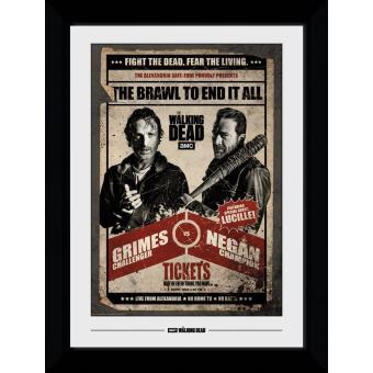 Fotografia enmarcada The Walking Dead Fight Poster (30mm Negro)