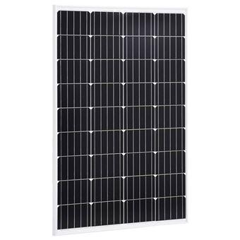 Paneles vidaXL solares monocristalinos vidrio de seguridad 120 W