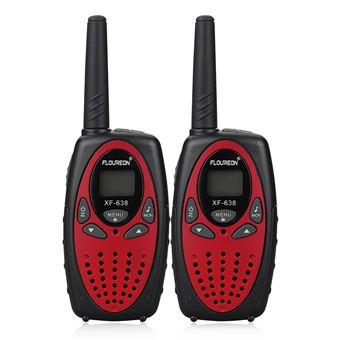 Walkie-Talkie Floureon XF - 638 8CH Twin PMR446MHZ 2-Way Radio 3KM, Paquete de 2, Rojo