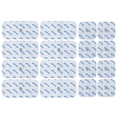 16 Electrodos Compatibles con Vitalcontrol Sanitas Beurer e Hydas, Conexión de Botón 3,5mm