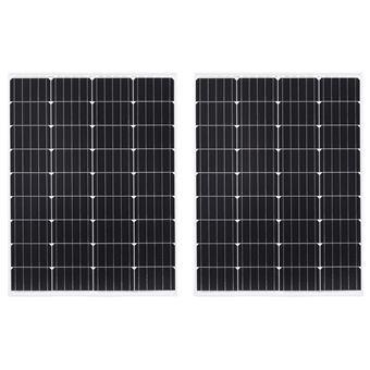 Paneles solares monoscristalinos vidaXL 2 uds vidrio seguridad 100