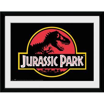 Fotografía Enmarcada Jurassic Park Logo