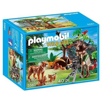 Playmobil Wild Life - Científico con Familia de linces - 5561