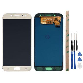 Pantalla Táctil Unico Para Samsung Galaxy J7 Pro 2017 J730G J730 J730 (Monitor LCD Completo) Ouro