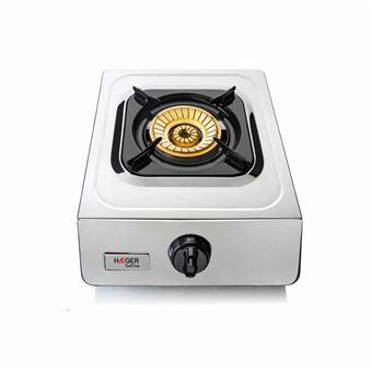 Cocina a gas en Inox Haeger SAFINE 1 Quemador 90mm