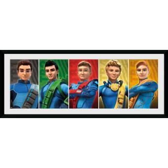 Fotografía enmarcada Thunderbirds Are Go Grupo 30x75 cm