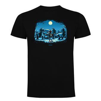 Camiseta manga corta Friking, Modelo 905 Jurassic Toys Talla 3XL, Negro