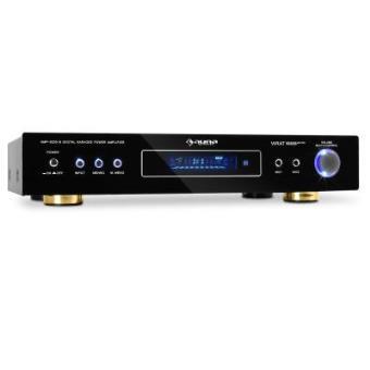 Auna – Amplificador Receptor Radio, Sonido envolvente Home Cinema multifuncional 5.1 (600W 2 x 120W RMS + 3 x 50W RMS, 2 x entradas RCA, 1 x entrada Jack) Color Negro