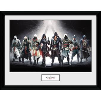 Fotografía enmarcada Assassins Creed Personajes 30x75 cm