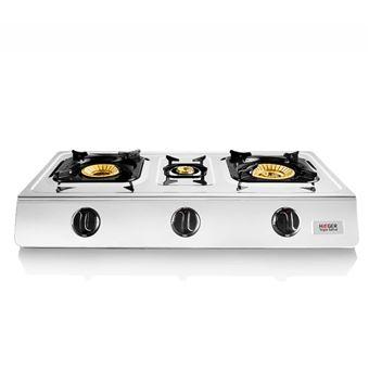 Cocina a gas en Inox Haeger TRIPLE SAFINE 3 Quemadores