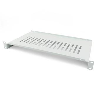 Bandeja rack  RackMaticde fijación frontal de 1U y fondo 250 mm blanco