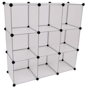 Estanteria modular armario con puertas plastico hierro - Armarios de hierro ...