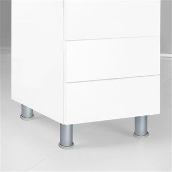 Emuca Pie para mueble, D. 40 mm, regulable 140-160 mm, Aluminio, Anodizado satinado, 4 ud.