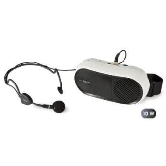 Amplificador de Cintura con micrófono manos libres, de 10 W, entrada auxiliar, gran alcance, muy ligero, 190 x 90 x 65 mm
