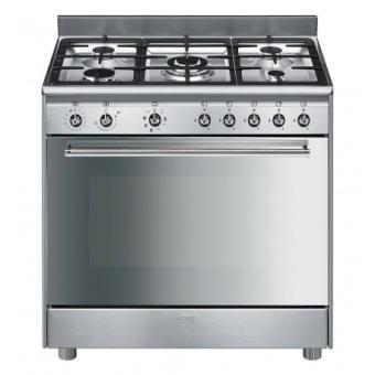 Cocina gas smeg sx91mf9 horno 5 fuegos gris los mejores for Cocina de gas de dos fuegos